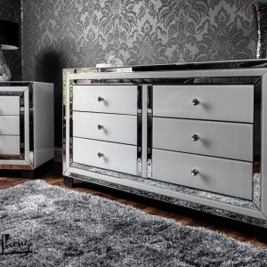 White mirror 6 drawer