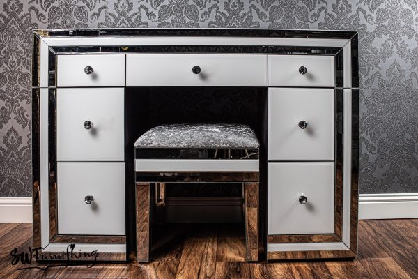 White mirror dressing table