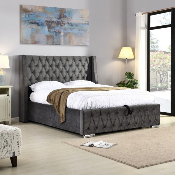 Fabric ottoman bed