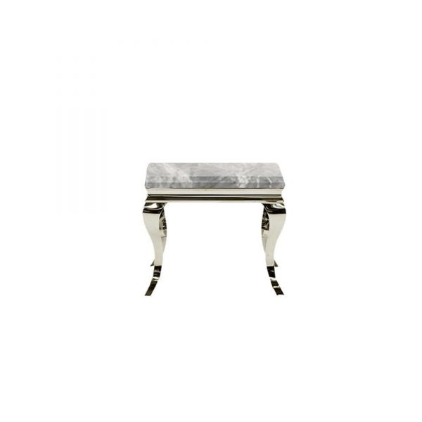 LEWIS LIGHT GREY MARBLE SIDE TABLE