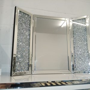 Diamond crush Folding Mirror