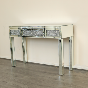diamond crush console table