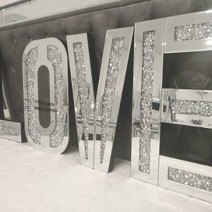 LOVE Letters - Diamond crush mirror