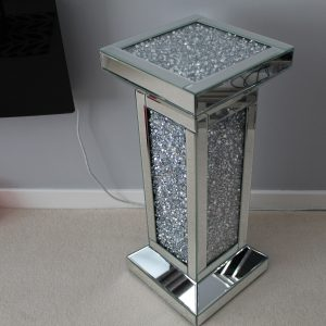 diamond crush mirrored pedestal