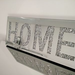 Mirrored HOME Sign 60x25cm
