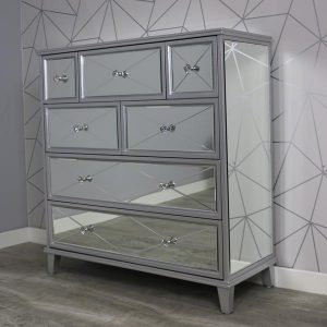 Saltire mirrored chest of drawers