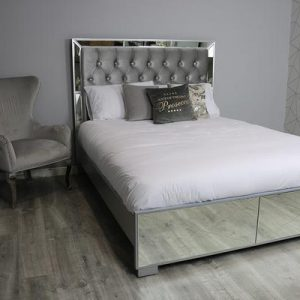 Saltire Mirrored bed - Kingsize