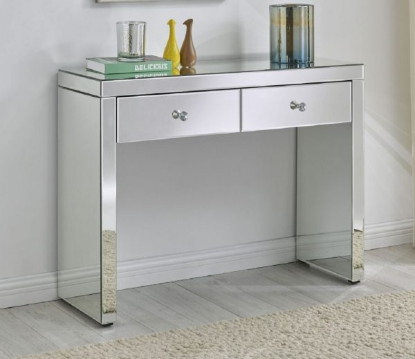 MIRRORED CONSOLE TABLE/DRESSING TABLE