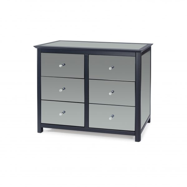 ayr mirror 6 drawer chest of drawers