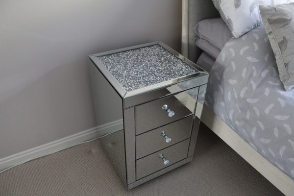 diamond top bedside table