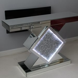 LED Triangle console table - Diamond crush