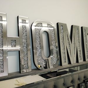 HOME letters - mirrored