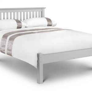 Barcelona Bed - Low Foot End Dove Grey Double