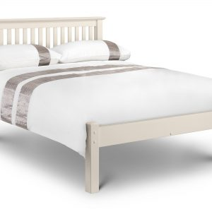 Barcelona Bed - Low Foot End Stone White Small Double