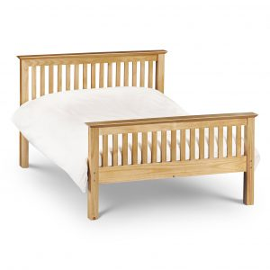 Barcelona Bed - High Foot End Pine Double