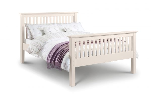 Barcelona Bed - High Foot End Stone White Double