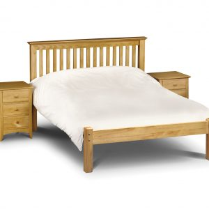 Barcelona Bed - Low Foot End Pine Small Double