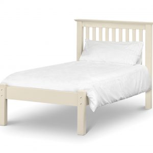 Barcelona Bed - Low Foot End Stone White Single