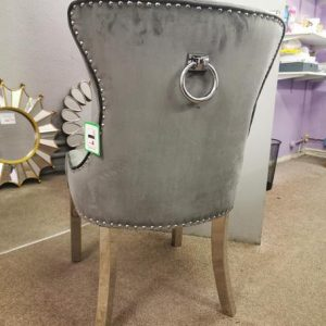 Grey Ring Buckle back Chair