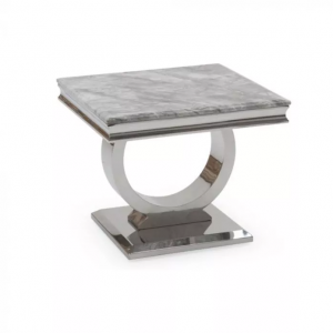 Chelsea Grey Marble Side Table