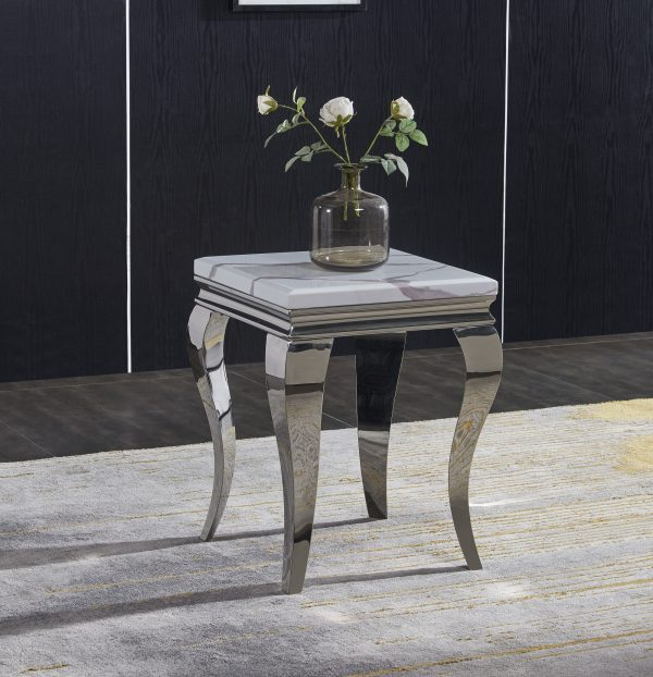 Florence Cream Marble Lamp Table