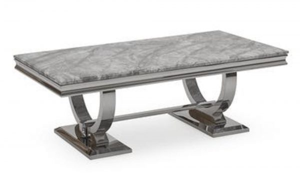 Chelsea Grey Marble Dining Table (1.5m)